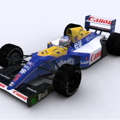 williams fw14b race car 3d model