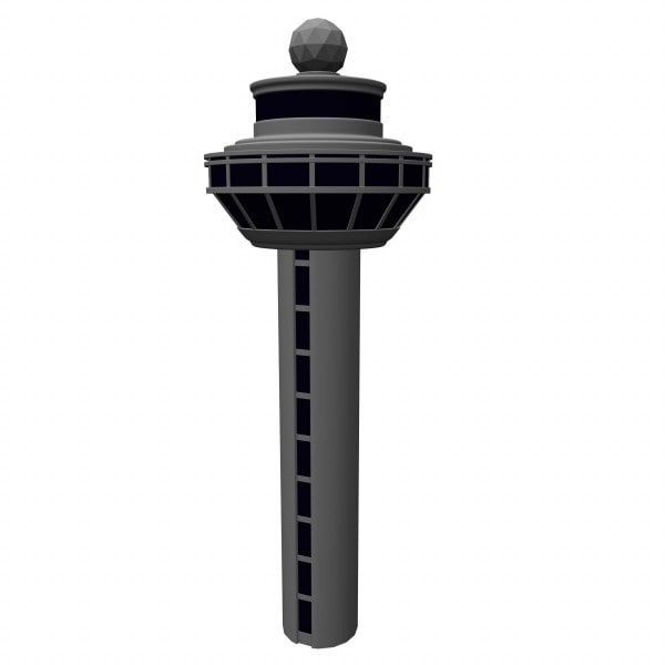 3d model airport tower