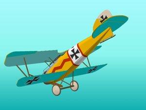 fighter albatros 3d model