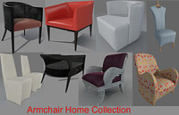 3d armchair home 8