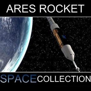 3d model ares rocket