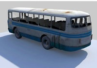 3d model old bus laz