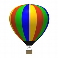 3d hot air balloon