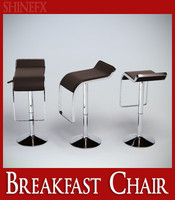 breakfast chair 3d obj