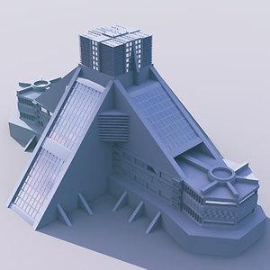 futuristic building 3ds