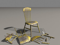3d breakable chair model
