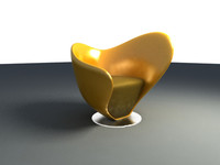 3dsmax organic curvy chair