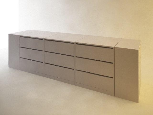 file cabinets divider 3d 3ds