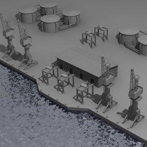 3d industrial harbor model