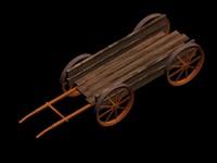 3d model old cart