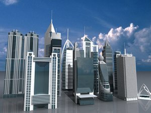 3d 3ds buildings tower dubai