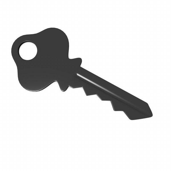 3d key model
