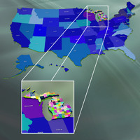 3ds max usa michigan counties