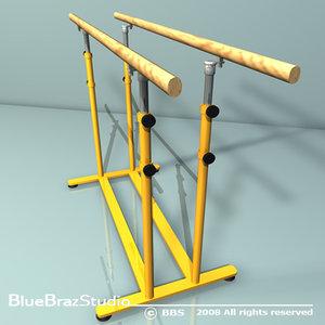 3d parallel bars model