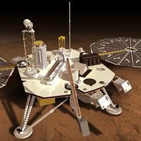 3d model phoenix mars lander