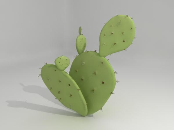 prickly pear cactus obj