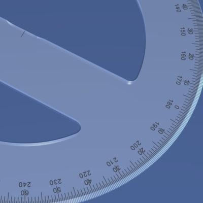 3d 360-degree protractor model