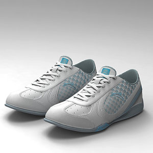 3d running shoes model
