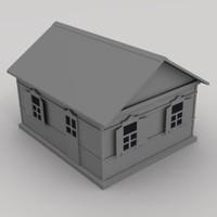 3d model russian house
