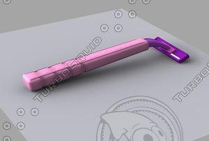 blade shaver 3d model