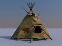 3d teepee wigwam model
