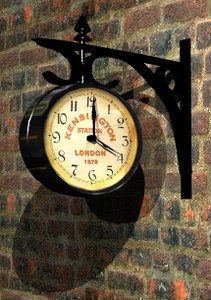 3ds max vintage railway station clock