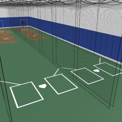 3d batting cages baseball