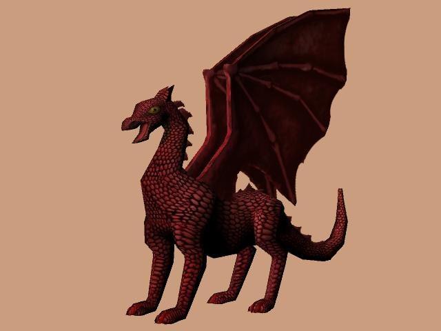 dragon western 3d model