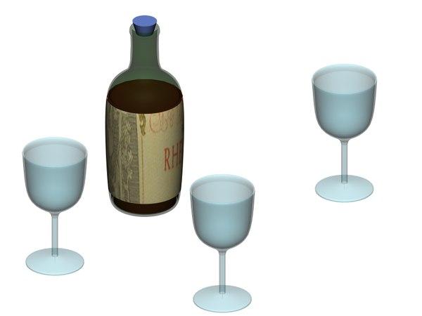 3d model wine