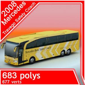 3d mercedes-benz travego safety coach model