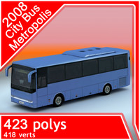 3d 2008 metropolis traffic bus games model