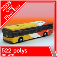3d city flyer bus 2008