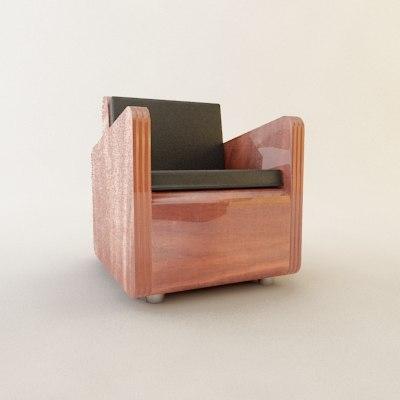 mid-century modern club chair max