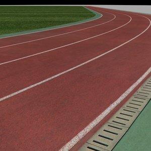 3d athletic fields 4 tracks model