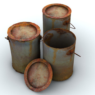 rusted tins 3d model