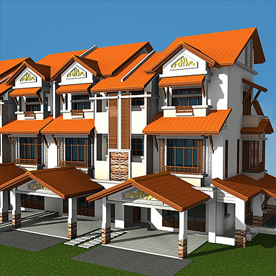 house linkhouse 3d max