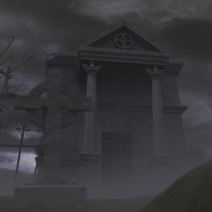 graveyard crypt oak 3d model