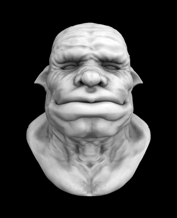 orc head 3d 3ds