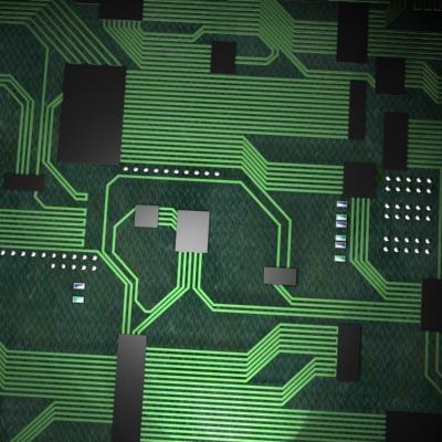 chip computer component 3d max