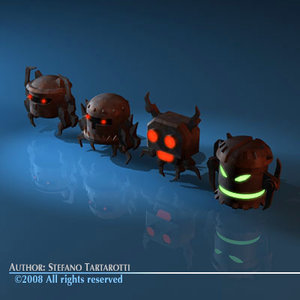 3d model enemy robots