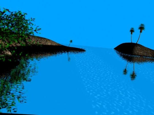 free water scene 3d model