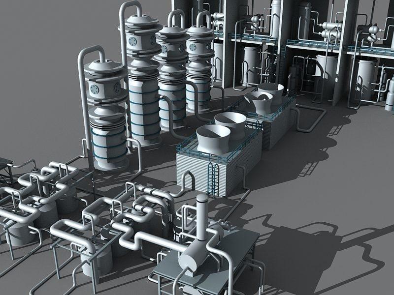 3d model refinery unit 6