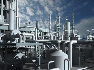 3ds max mega refinery 2