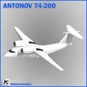 3ds max antonov aircraft generic white