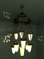 3d chandelier chain model