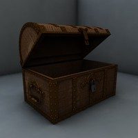 pirate treasure chest c4d
