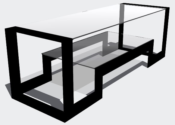 3d dwg coffee table