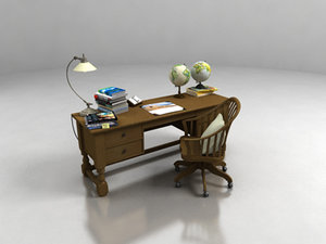 max wood office desk