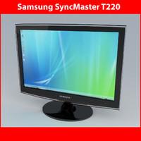monitor t220 3d model