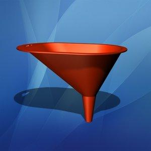 3d model funnel plastic liquid
